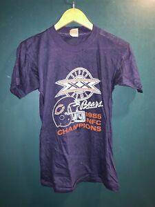 Vintage Chicago Bears 1985 NFC Champions Super Bowl XX Shirt Sz S Superdome NOS