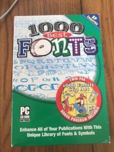 1000 Best Fonts PC CD - ROM by fonts Platform : Windows XP Ships N 24h