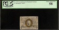 5 CENT FRACTIONAL CURRENCY POSTAGE NOTE 1863-1867 PAPER MONEY Fr 1233 PCGS 58