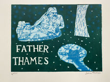 Julian Trevelyan Signed Limited Edition 1969 Etching FATHER THAMES