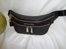 Michael Kors Kenly XS Waist Pack Crossbody Sling Bag Handbag Black MK Logo