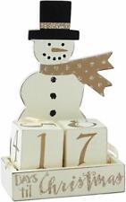 Snowman Days til Christmas Wooden Advent Calendar Countdown Primitives by Kathy