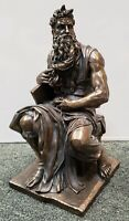 Vintage 1998 Veronese Moses and the Ten Commandments Cold Cast Bronze Sculpture