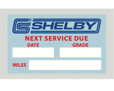Shelby Oil Service Reminder Decal (5 Pack)
