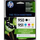 4-PACK HP GENUINE 950 Black & 951 Color Ink (RETAIL BOX) OFFICEJET PRO 8600 8610
