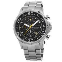 New Men's Akribos XXIV AK663SSB Quartz Chronograph Date SS Bracelet Watch