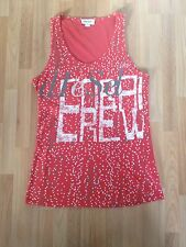 Lovely Ladies Diesel 'Coral Crew' Coral Red Dot Patterned Vest Top - Size Small