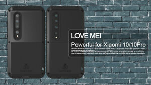 LOVE MEI Heavy Duty Metal Silicone Shockproof Case Cover fo Xiaomi Mi 10/ 10 Pro