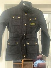 Girls Black Quilted Barbour Jacket Size XL Age 12/13