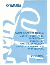 Yamaha service workshop manual 2006 YZ250 (V)