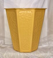 VTG Plastic Gold/Yellow Wastebasket Trash Can Basket 1970s FESCO 7446-2 11x11x10
