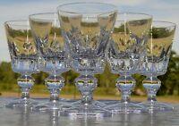 Saint Louis - Service de 6 verres à vin rouge en cristal, modèle Jersey