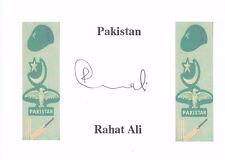 Rahat Ali (Pakistan) signed card