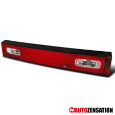 For 1989-1994 Nissan 240SX S13 Hatchback Pair Red/Clear Tail Brake Lights Lamps