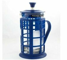 More details for new dr doctor who tardis french press 34oz glass carafe cafetiere filter seven20