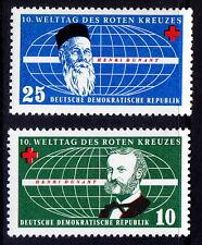 DDR MNH 2v, Red Cross, Henry Dunant, Nobel Peace  - Rs11