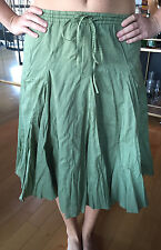 BANANA REPUBLIC Women's Olive Green Knee Length Skirt Size Smal NEW w TAGS