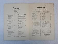 Vintage HOTEL LORAINE COFFEE SHOP BREAKFAST MENU Madison Wisconsin