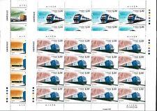 China 2006-30 Harmonious Railways Construction 4V Full S/S Train 和諧鐵路