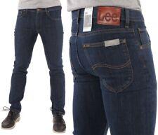 Neu Herren LEE Jeans Brooklyn Comfort Gerade Hose Stretch Blau Dark Stone W28-40