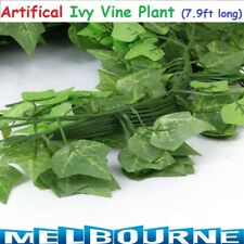 7.9ft 2.4m Artificial Leaf Ivy Vine Plant Fake Foliage Green 90 Leaves Home Deco