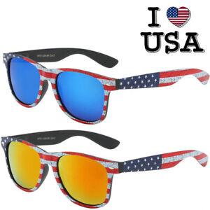 USA AMERICAN FLAG STARS & STRIPES PATRIOTIC SQUARE SUNGLASSES CLASSIC RETRO 80s