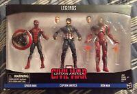Marvel Legends Captain America Civil War 6-inch Figure 3-pack