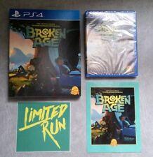 Broken Age (PS4) & (vita) NEW w/ sticker, card, slip cover Limited Run Games #60