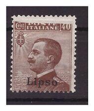 EGEO 1912 - LIPSO Cent. 40 - VARIETA' STAMPA INCOMPLETA