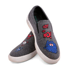 MIRA MIKATI Patched laine Slip-On Baskets Chaussures Taille 41 UK 8 US 11 Femme