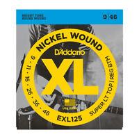 D'Addario Exl125 Cuerdas Guitarra Eléctrica 9-46. Calidad Profesional,Gran