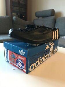 Eddie Merckx Adidas Cycling Shoes Vintage 70s 80s Black Leather Size EU44 2/3