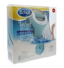 Scholl Velvet Smooth Wet and Dry Electric Foot File, Rechargeable