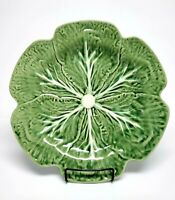 "Bordallo Pinheiro Green Cabbage Leaf CHOP PLATE 12"" Portugal Charger"