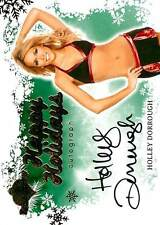 Holley Dorrough 2012 Bench Warmer Holiday Autograph Auto Green Background SP