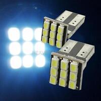 2 x T10 194 168 W5W  9-SMD Car White LED Light DC 12V License Plate Lamp  hv2n