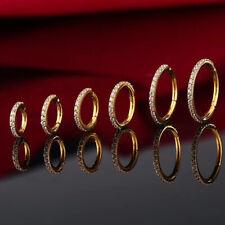 1,2mm Multi Kristalle Clicker Segment Ring Ohr Septum Helix Nase Piercing Gold