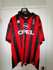 AC MILAN 1996 HOME LOTTO FOOTBALL SHIRT LARGE SHORT SLEEVE VINTAGE