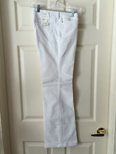 BANANA REPUBLIC CLASSIC WIDE LEG CUFFED TROUSERS / IVORY CORDUROY / SIZE 8 / NWT