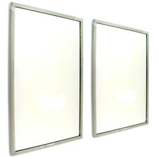 """Box of 2 Bobrick 18""""x12"""" Stainless Steel Frame Glass Mirrors"""