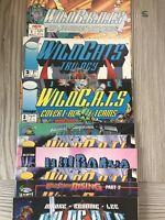 9 WILDCATS Comics Including Wildcats Trilogy & WILDBRATS #1 Parody