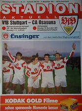 Program Uefa Cup 1991/92 Vfb Stuttgart - Approx Osasuna