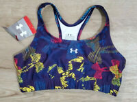 Under Armour Womens Sports Bra Size Medium 1212271 Purple