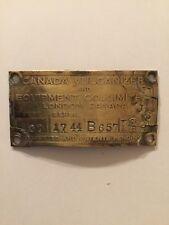 Canadian Vulcanizer Gas Pump I.D. Tag