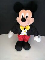DISNEY Mickey Mouse Conductor Suit Wizard Plush One of A Kind Extremely Rare 14""