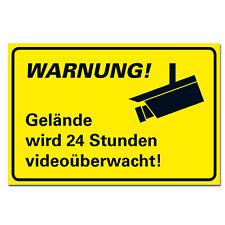 Gelände Schutz Videoüberwachung Schild Warnung Hinweis Kamera Hartschaumplatte