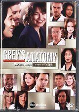 GREY'S ANATOMY STAGIONE 10 - COFANETTO 6 DVD NUOVO!