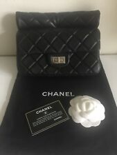 CHANEL Unique LTD Edit Runway Roll Top Nero Pochette versatile Fab!