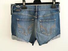 Hollister High Rise Vintage denim blue Shorts, size 5 NWT