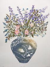 "SHEILA OLINER 1930-2020 St Ives ""Bluebells"" limited ed ETCHING 13/100"
